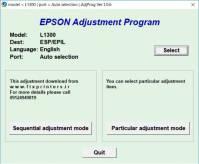 نرم افزار ریست EPSON L1300